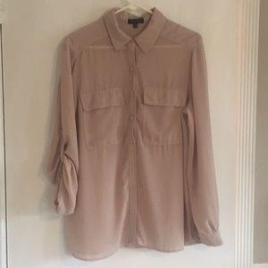 SPENSE Pale Pink Sheer Ladies Blouse